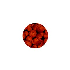 Basketball Sport Ball Champion All Star 1  Mini Buttons by AnjaniArt