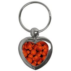 Basketball Sport Ball Champion All Star Key Chains (heart)  by AnjaniArt