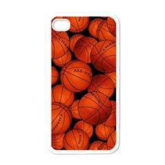 Basketball Sport Ball Champion All Star Apple Iphone 4 Case (white) by AnjaniArt