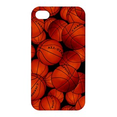 Basketball Sport Ball Champion All Star Apple Iphone 4/4s Hardshell Case by AnjaniArt