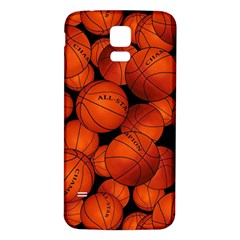 Basketball Sport Ball Champion All Star Samsung Galaxy S5 Back Case (white) by AnjaniArt