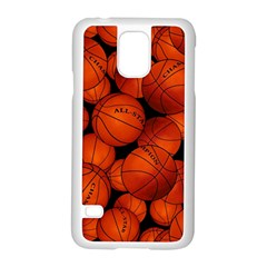 Basketball Sport Ball Champion All Star Samsung Galaxy S5 Case (white) by AnjaniArt