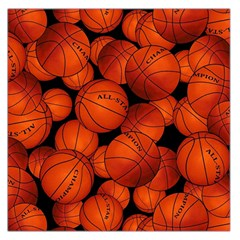 Basketball Sport Ball Champion All Star Large Satin Scarf (square) by AnjaniArt