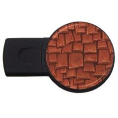 Chocolate Usb Flash Drive Round (2 Gb)  by AnjaniArt