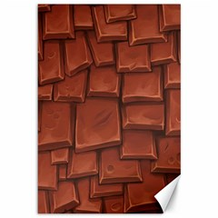 Chocolate Canvas 12  X 18   by AnjaniArt
