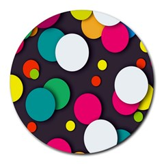 Color Balls Round Mousepads by AnjaniArt
