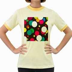 Color Balls Women s Fitted Ringer T-Shirts by AnjaniArt