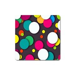 Color Balls Square Magnet