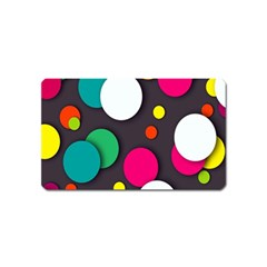 Color Balls Magnet (name Card) by AnjaniArt
