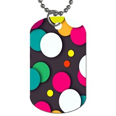 Color Balls Dog Tag (two Sides) by AnjaniArt