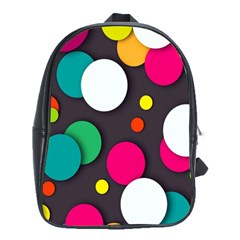 Color Balls School Bags(large)  by AnjaniArt