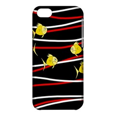 Five Yellow Fish Apple Iphone 5c Hardshell Case by Valentinaart