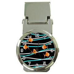 Five Orange Fish Money Clip Watches by Valentinaart
