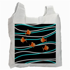 Five Orange Fish Recycle Bag (two Side)  by Valentinaart