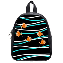 Five Orange Fish School Bags (small)  by Valentinaart