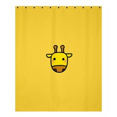 Cute Face Giraffe Shower Curtain 60  X 72  (medium)  by AnjaniArt