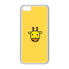 Cute Face Giraffe Apple Iphone 5c Seamless Case (white)
