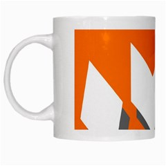 Cute Orange Chevron White Mugs