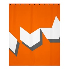 Cute Orange Chevron Shower Curtain 60  X 72  (medium)  by AnjaniArt
