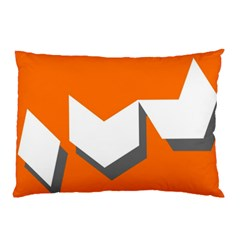 Cute Orange Chevron Pillow Case (two Sides) by AnjaniArt