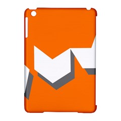 Cute Orange Chevron Apple iPad Mini Hardshell Case (Compatible with Smart Cover) by AnjaniArt