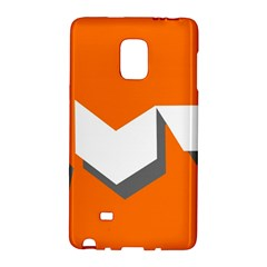 Cute Orange Chevron Galaxy Note Edge by AnjaniArt
