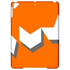 Cute Orange Chevron Apple Ipad Pro 9 7   Hardshell Case by AnjaniArt