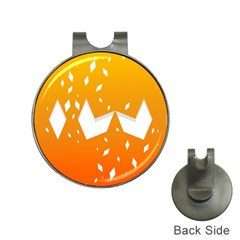 Cute Orange Copy Hat Clips With Golf Markers by AnjaniArt