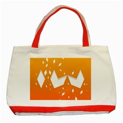 Cute Orange Copy Classic Tote Bag (red) by AnjaniArt