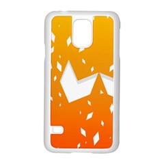 Cute Orange Copy Samsung Galaxy S5 Case (White) by AnjaniArt