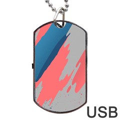 Colorful Dog Tag Usb Flash (one Side) by AnjaniArt