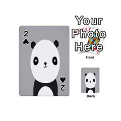 Cute Panda Animals Playing Cards 54 (mini)  by AnjaniArt