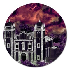 Fantasy Tropical Cityscape Aerial View Magnet 5  (round) by dflcprints