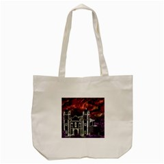 Fantasy Tropical Cityscape Aerial View Tote Bag (cream) by dflcprints