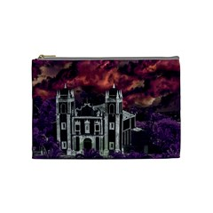 Fantasy Tropical Cityscape Aerial View Cosmetic Bag (medium)  by dflcprints