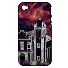 Fantasy Tropical Cityscape Aerial View Apple Iphone 4/4s Hardshell Case (pc+silicone) by dflcprints