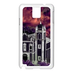 Fantasy Tropical Cityscape Aerial View Samsung Galaxy Note 3 N9005 Case (white) by dflcprints