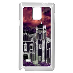 Fantasy Tropical Cityscape Aerial View Samsung Galaxy Note 4 Case (white) by dflcprints