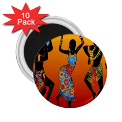 Dancing 2 25  Magnets (10 Pack)  by AnjaniArt