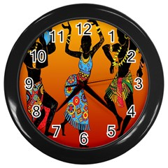 Dancing Wall Clocks (black) by AnjaniArt