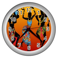 Dancing Wall Clocks (Silver)  by AnjaniArt