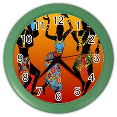 Dancing Color Wall Clocks by AnjaniArt