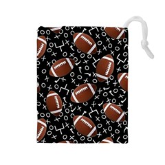 Football Player Drawstring Pouches (large)  by AnjaniArt