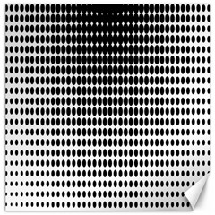 Dark Circles Halftone Black White Copy Canvas 20  X 20   by AnjaniArt