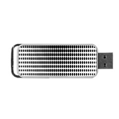 Dark Circles Halftone Black White Copy Portable Usb Flash (two Sides) by AnjaniArt