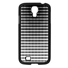 Dark Circles Halftone Black White Copy Samsung Galaxy S4 I9500/ I9505 Case (black) by AnjaniArt
