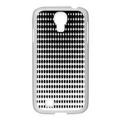 Dark Circles Halftone Black White Copy Samsung Galaxy S4 I9500/ I9505 Case (white) by AnjaniArt