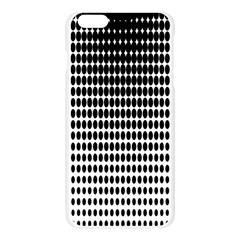 Dark Circles Halftone Black White Copy Apple Seamless iPhone 6 Plus/6S Plus Case (Transparent) by AnjaniArt