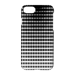 Dark Circles Halftone Black White Copy Apple iPhone 7 Hardshell Case