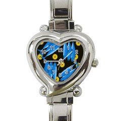 Mackerel Meal Heart Italian Charm Watch by Valentinaart